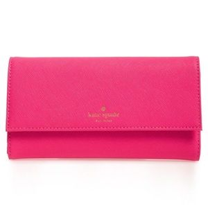 Kate Spade Pink new york leather iPhone 7 wallet